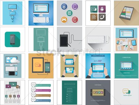 技术 : Technology icons and gadgets