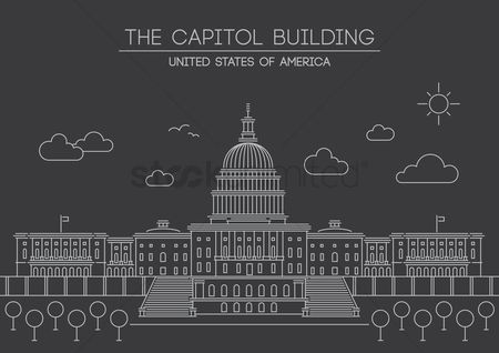 房屋地标 : The capitol building