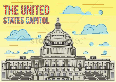 房屋地标 : The united states capitol