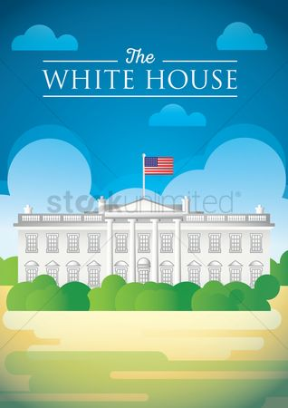 房屋地标 : The white house poster