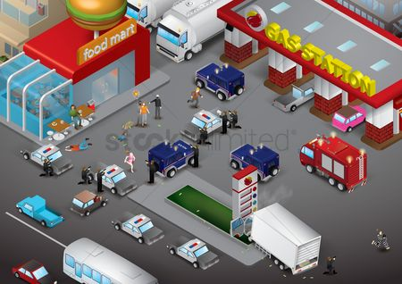 汽车 : Thieves attack in market