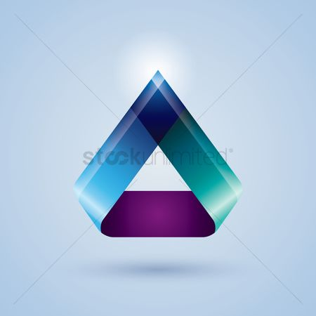 色带 : Triangle ribbon icon
