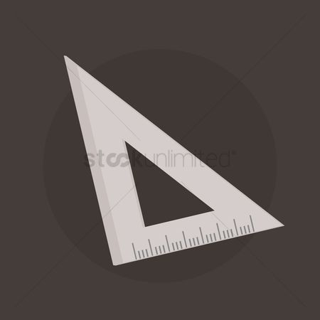 学校 : Triangle ruler
