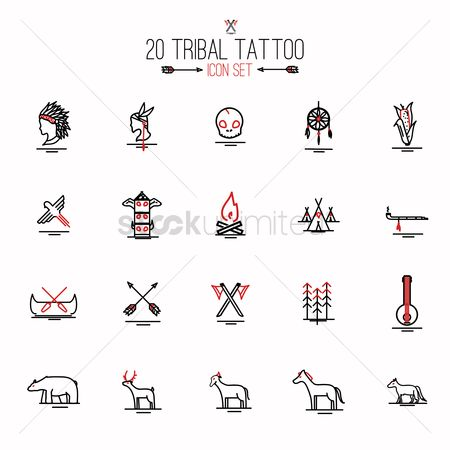 抽象化 : Tribal tattoo set