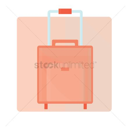 处理 : Trolley suitcase