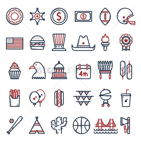 体育 : Usa symbols collection