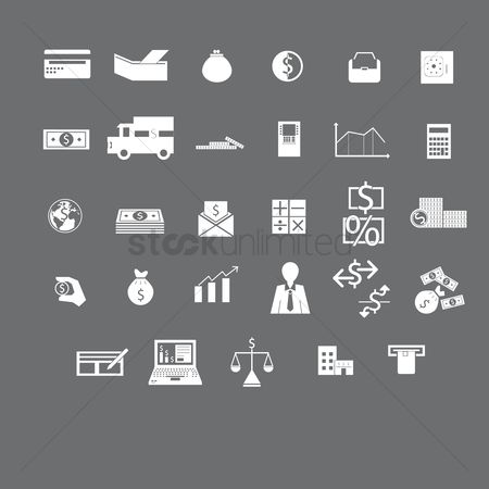 业务金融 : Various banking and finance icons