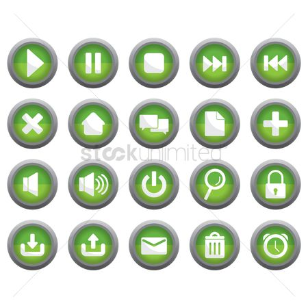 垃圾 : Various button icons