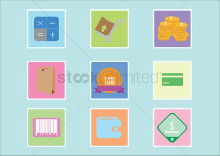 平方 : Various e-commerce icons