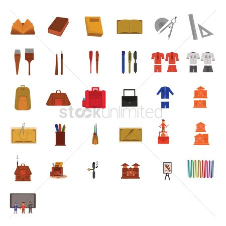 学校 : Various education icons