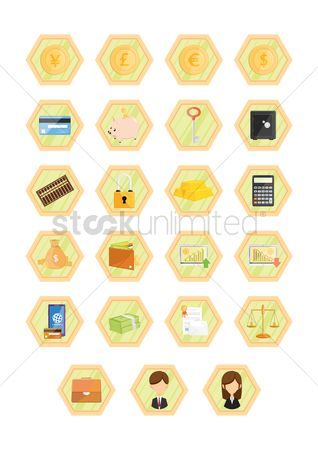 数据 : Various financial icons