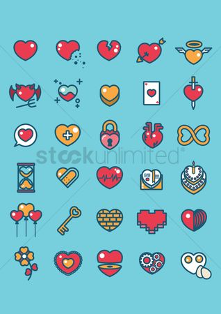 庆典 : Various heart icons