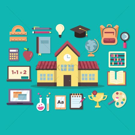 学校 : Various school related items
