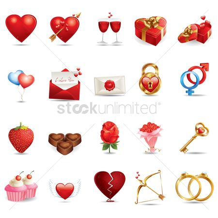 心脏 : Various valentine related items