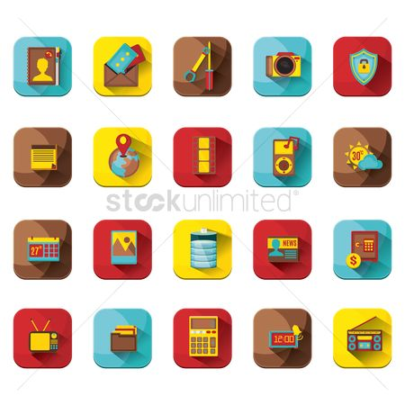 消息 : Various web interface icons