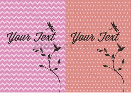 花色 : Vector of a message card