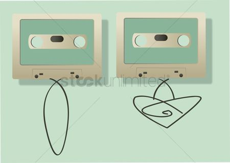 葡萄收获期 : Vector of audio cassettes