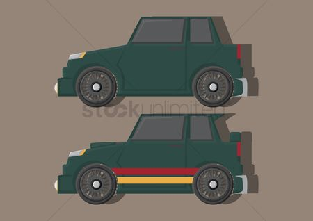花色 : Vector of automobiles