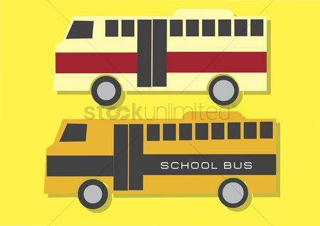 学校 : Vector of buses