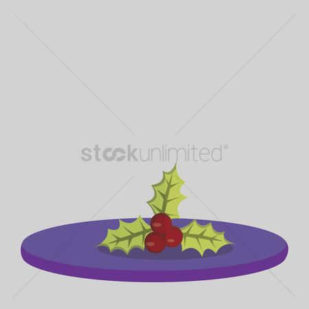 庆典 : Vector of christmas mistletoe