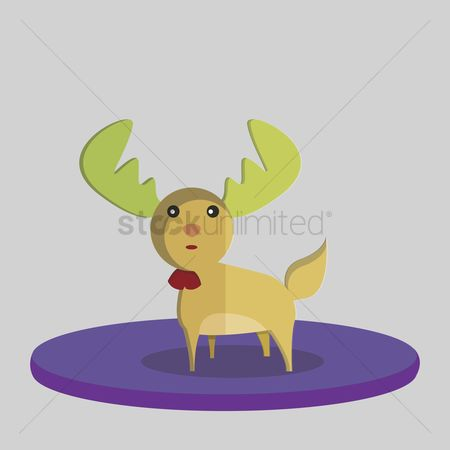 庆典 : Vector of christmas reindeer