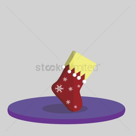 庆典 : Vector of christmas stocking