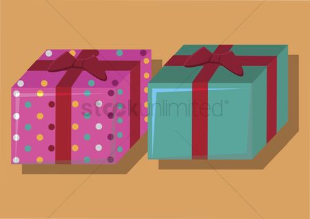 色带 : Vector of gift boxes