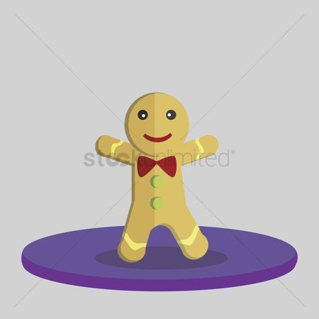 庆典 : Vector of gingerbread man