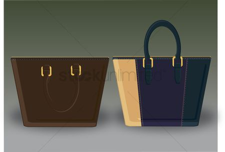 葡萄收获期 : Vector of handbags