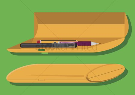 学校 : Vector of pencil case