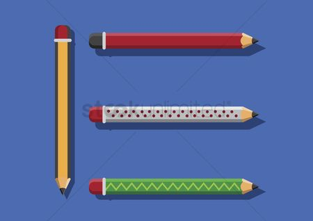 学校 : Vector of pencils