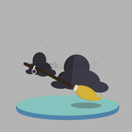 庆典 : Vector of witch broomstick