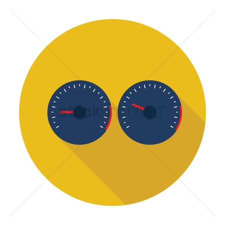 汽车 : Vehicle speed meter