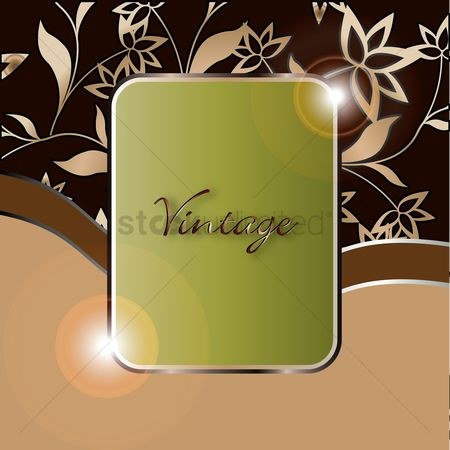 复古 : Vintage background with frame