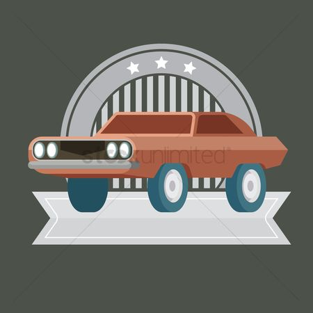 标签 : Vintage car label