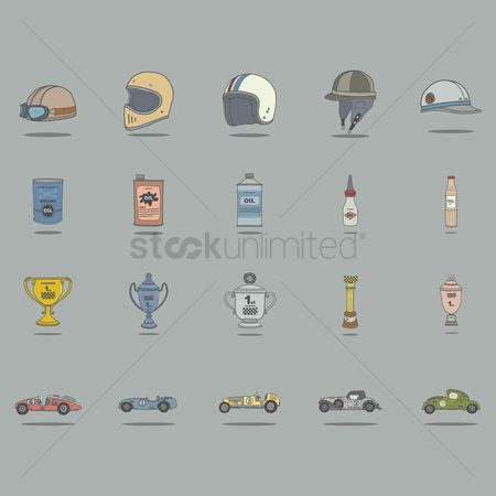 复古 : Vintage car racing accessories collection