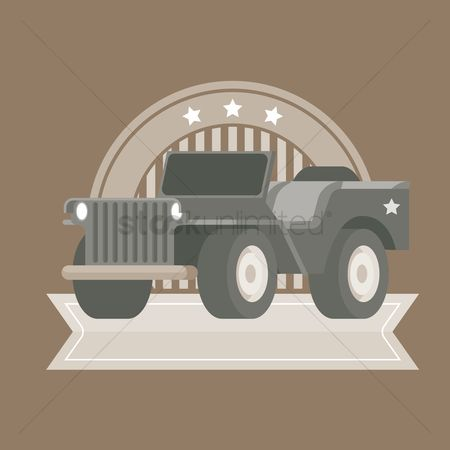 标签 : Vintage four wheel drive label