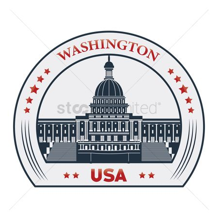 房屋地标 : Washington label