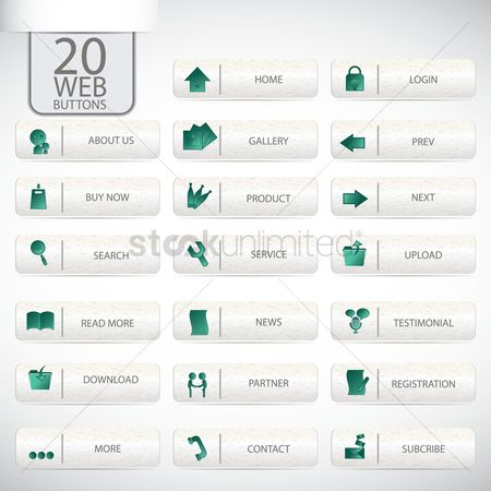 消息 : Web buttons set