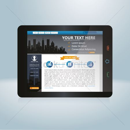 技术 : Web design on a tablet