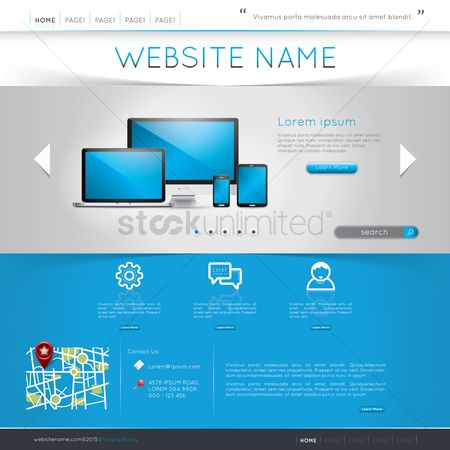 技术 : Website template