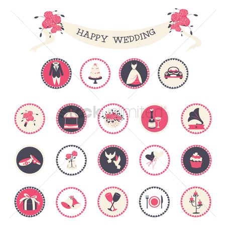 庆典 : Wedding icons