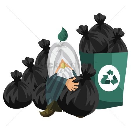 垃圾 : Wizard dumping garbage in the recycle bin