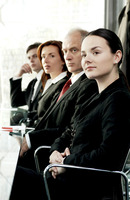 Business people paying attention in the conference room