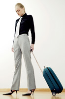 Businesswoman with luggage