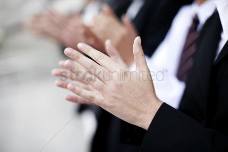 庆典 : Business people clapping hands