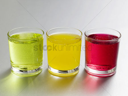 饮料 : Coloured soft drinks