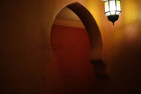 内饰 : Interior of a restaurant in morocco