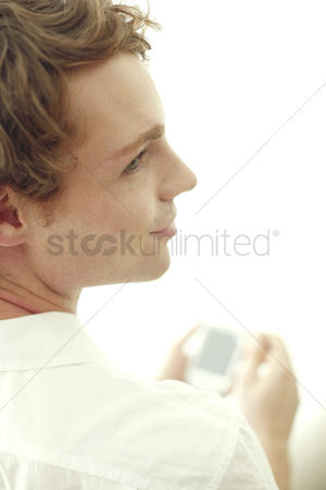 只有成人 : Man using palmtop