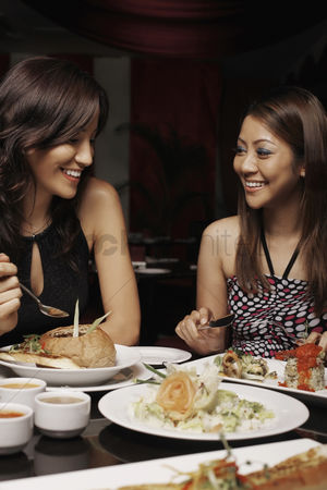 只有成人 : Women talking over a meal